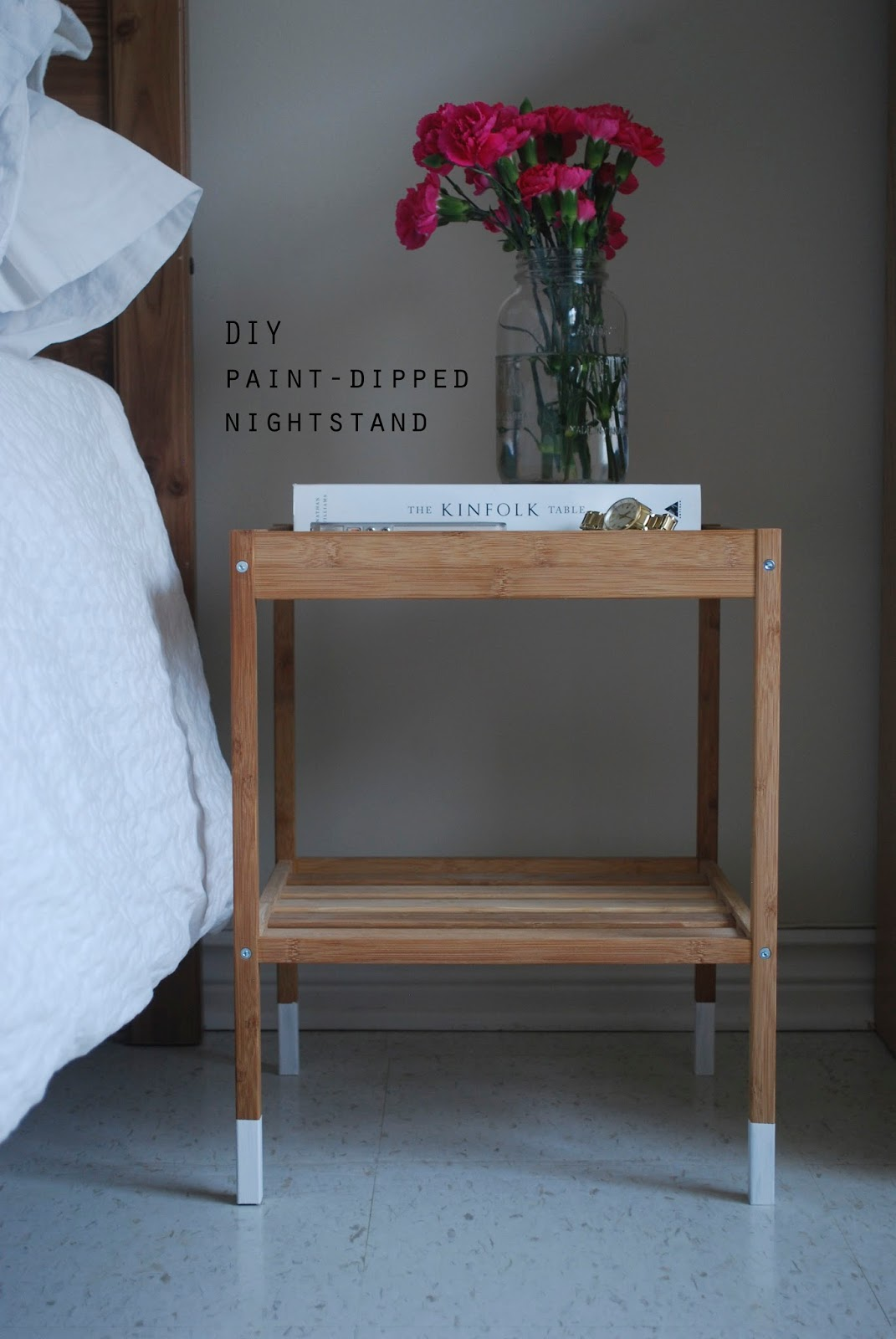 Design Diy Nightstand diy paint dipped nightstand what emily said nightstand