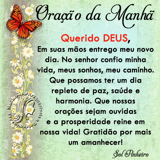 oração do dia querido Deus