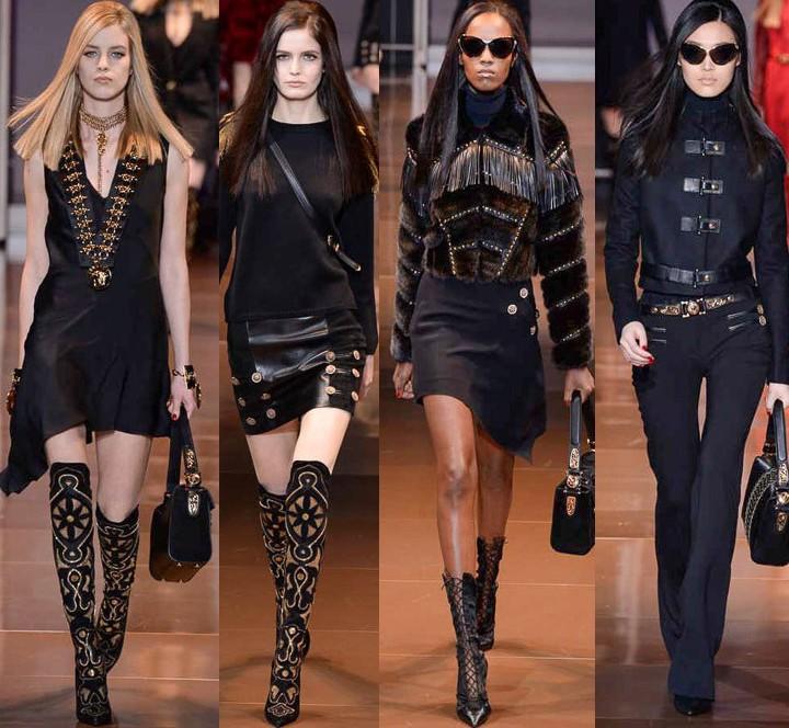 versace, milan fashion week, runway, fall 2014
