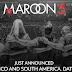 Maroon 5 llega a Latinoamérica