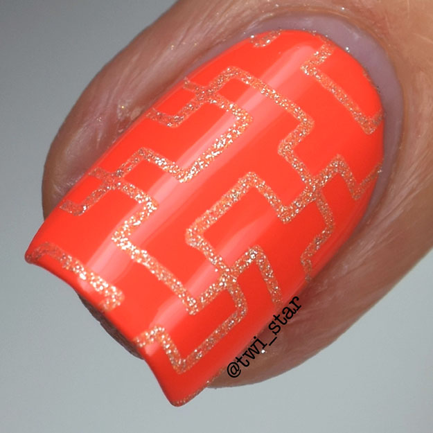 OPI Can't Afjord Not To and LAMB HeHe 029 stamping nail art