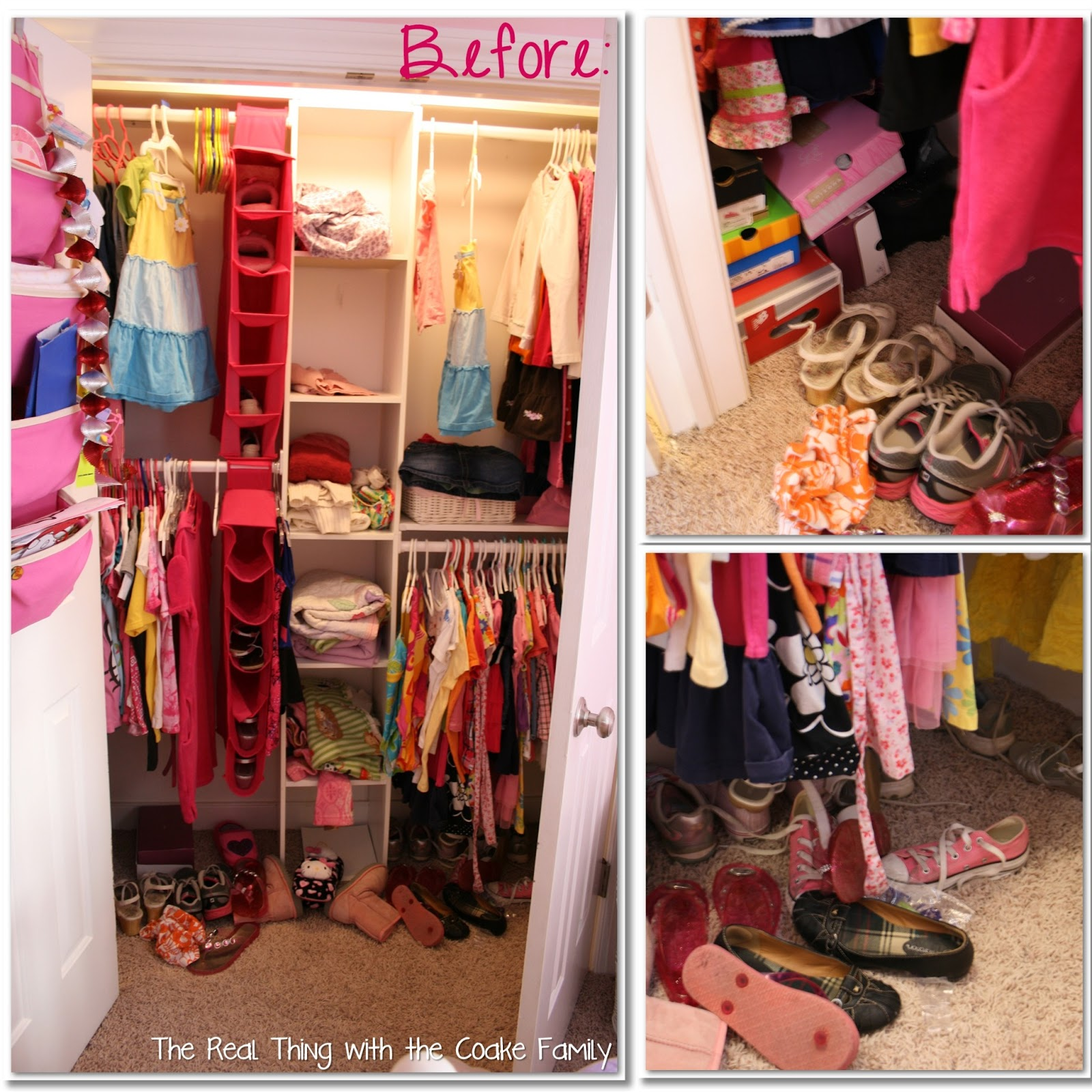 Kids Closet {Organizing Ideas} - The Real Thing with the Coake Family