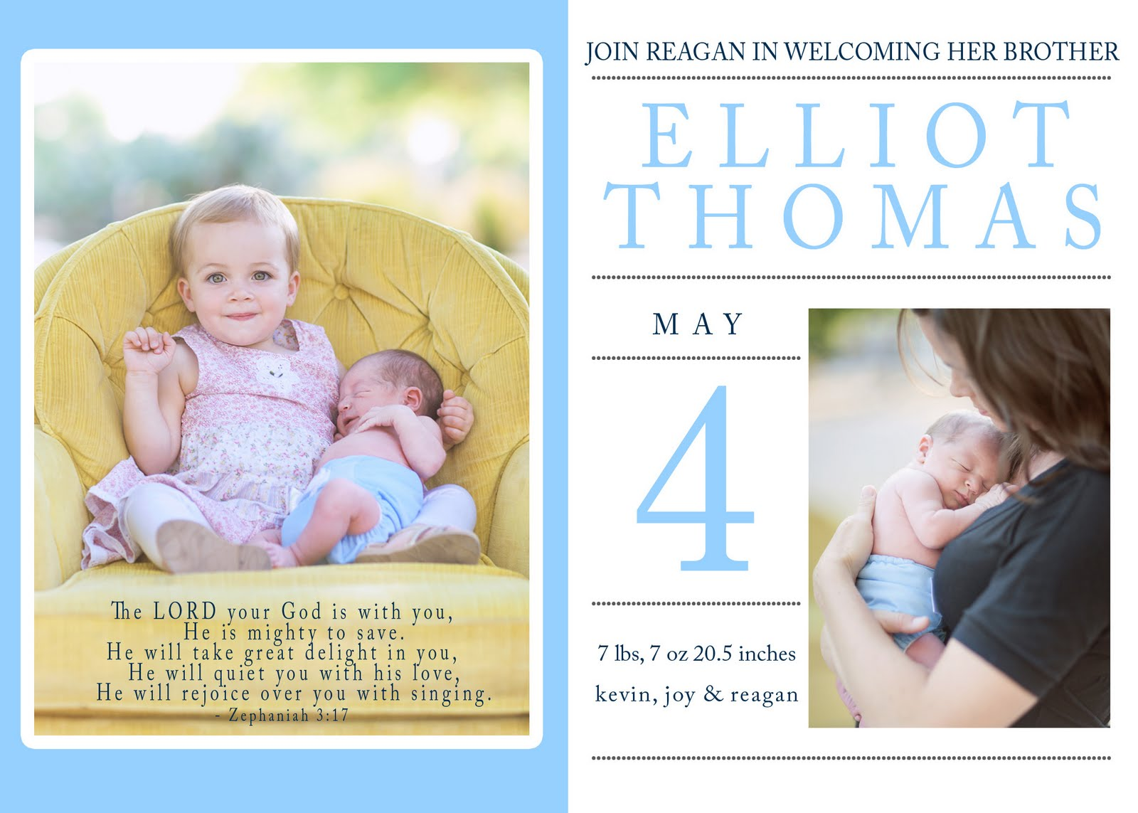 iDesign big sister welcomes baby brother announcement – Big Sister Birth Announcement