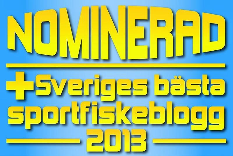 Vi är nominerade till Sveriges bästa fiskeblogg anno 2013