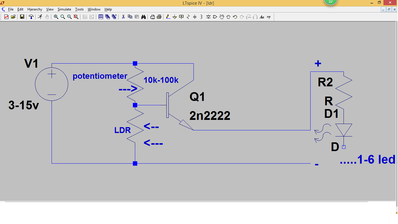 Transistors Projects Automatic Dusk Light Using Ldr And Transistor Simple Led Flasher Circuit A Version 1 Project 3