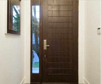 Fotos y dise os de puertas chapas de seguridad para for Disenos para puertas de madera