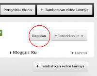 share video-youtube-i blogger ku