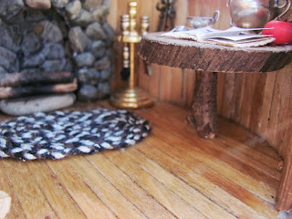 miniture dollhouse homemade wooden table