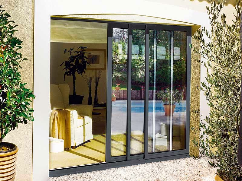 Ventana y puertas de aluminio simple with ventana y for Puerta corredera aluminio exterior