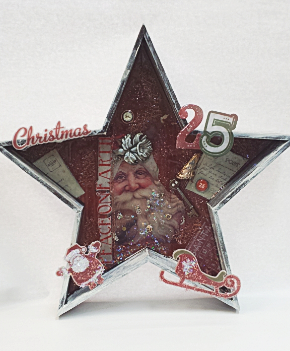 Christmas Wood Star @craftsavvy #craftwarehouse #resin #homedecor #diy