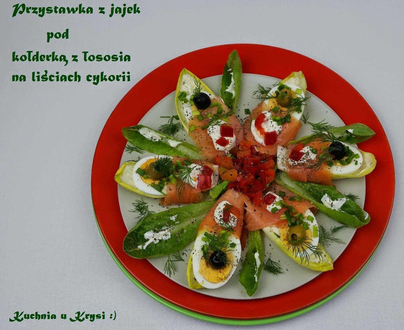 Kuchnia U Krysi Przystawka Z Jajek Pod Kołderką Z łososia