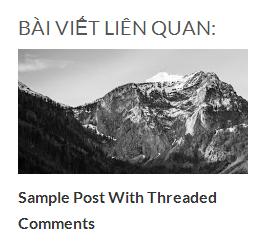 Bài viết liên quan có hình ảnh chuẩn HTML5