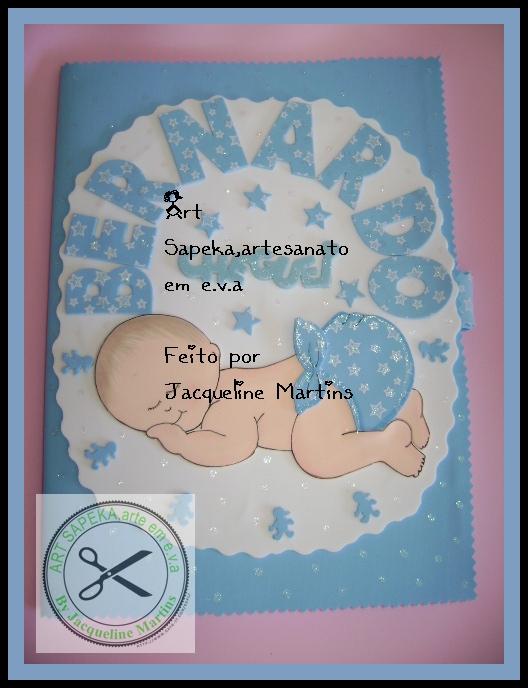 Muitas vezes Art sapeka, artesanatos em e.v.a: Caderno decorado para mensagens  RC96