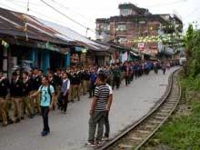 Vishwa Bharti, Shantiniketan  incident -  Mourn rally organised in Kurseong