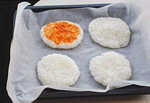 Boiled Rice Pizza - Cơm Pizza