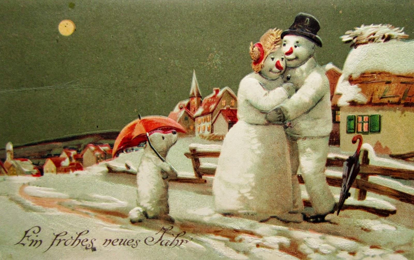 Vintage Snowman Postcards 28