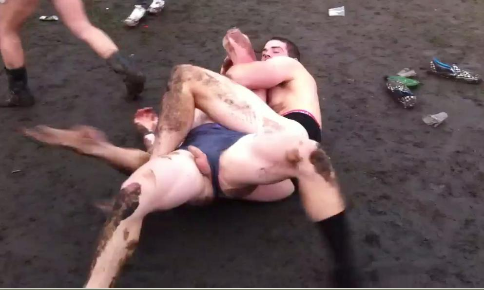 Men Fighting Nude Erected