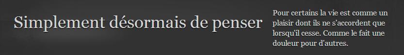 Capture d'écran : titre du blog de H. X. Lemonnier
