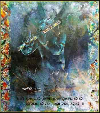 Image of Lord krishna Playing Flute
