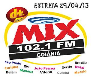 Rádio Mix FM de Goiânia já está no ar em 102,1 sintonize