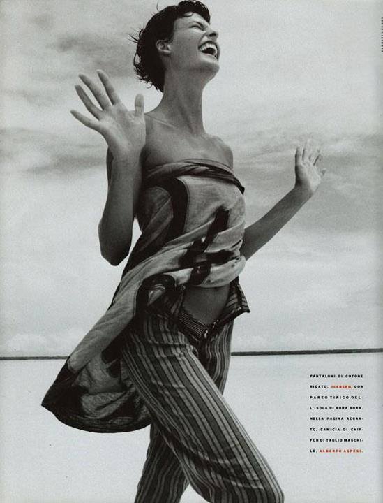 Beach Wedding Dresses: Linda Evangelista for Vogue Italia ...