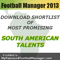 FM 2013 Best Young Talents in South America