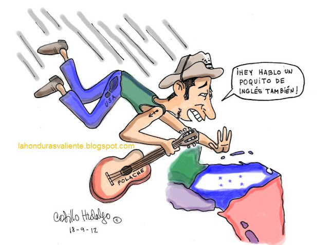 dibujo de cantautor hondureño