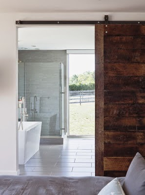 modern sliding barn door