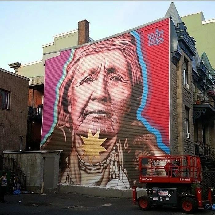 Kevin ledo new mural montreal canada streetartnews for Art mural montreal