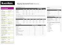 BlackRock Equity Dividend A Fund (MDDVX)