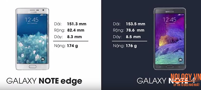 Galaxy Note Edge xách tay và note 4