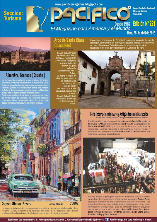 Revista Pacífico Nº 221 Turismo