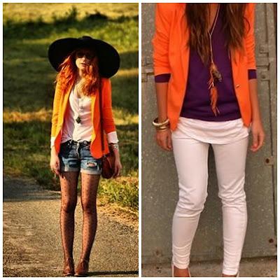 blazer coloridos, blazer laranja,