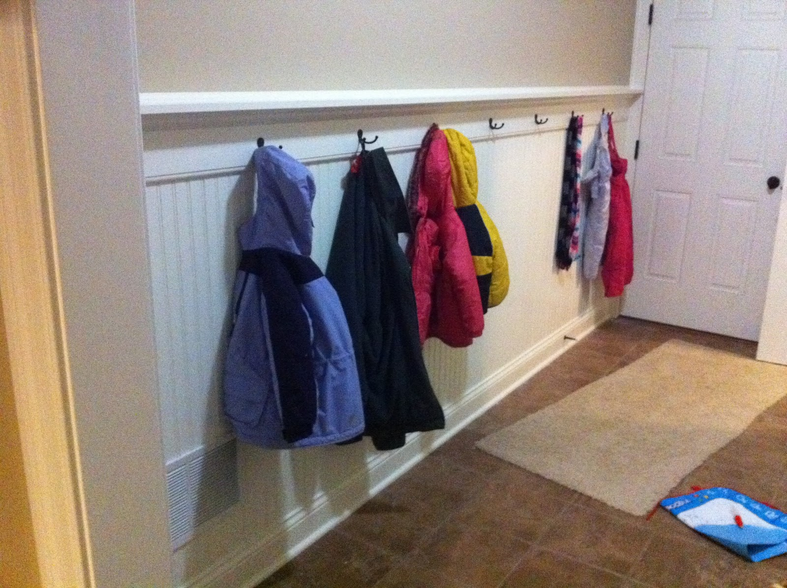 Chad's Mud Room Coat Hooks with Workshop