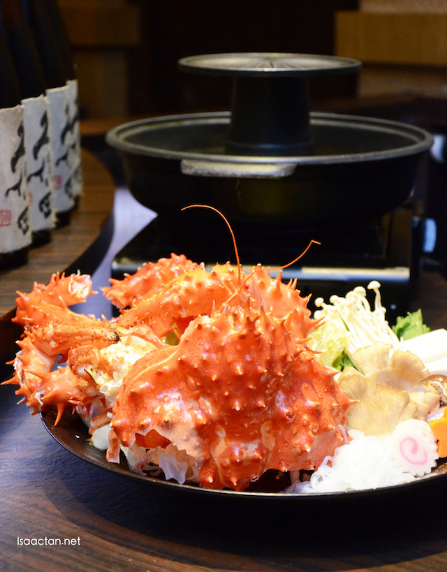 Hokkaido King Crab Shabu Shabu - RM288 per portion