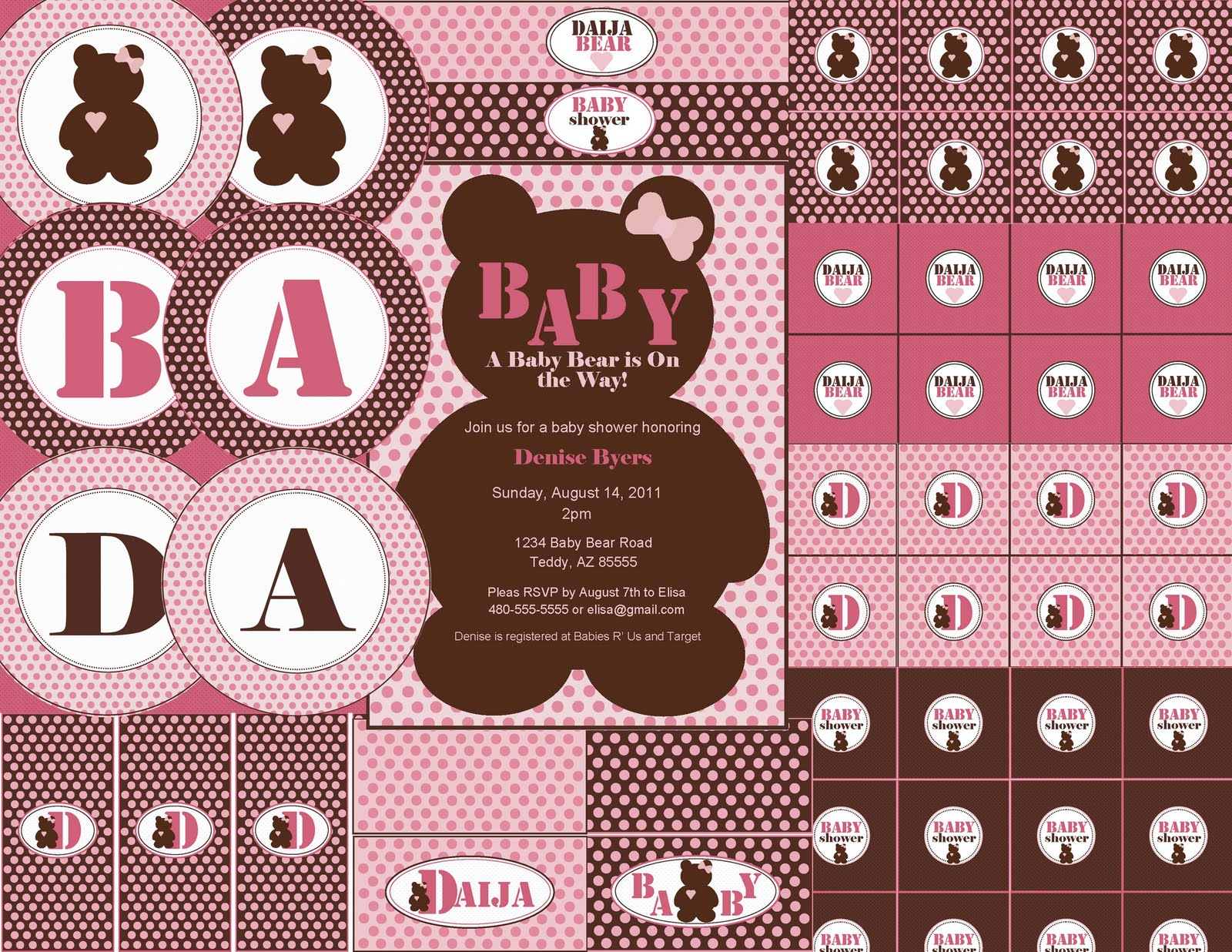 The Sugar Bee Bungalow: {Party Bee} Daija Bear Baby Shower