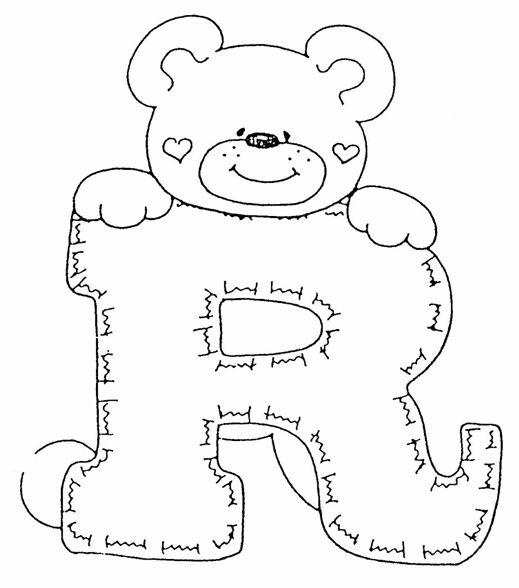 Sala De Jantar Letra Scracho ~ Pintura em Tecido Passo a Passo Alfabeto de ursinhos