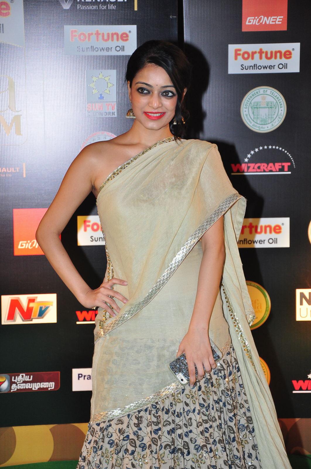 janani iyer glamorous in saree-HQ-Photo-7