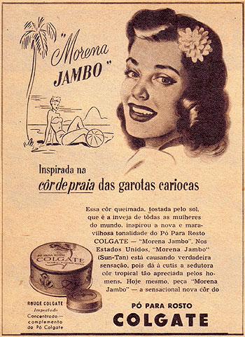 Propaganda do Pó para o Rosto da Colgate - anos 40