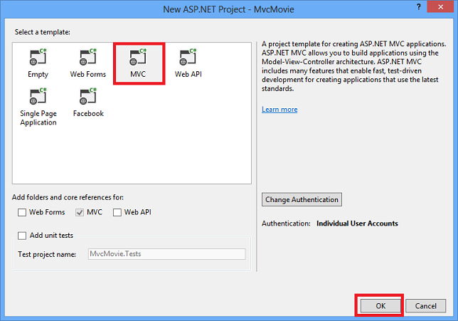 ASP.NET MVC 5 Application