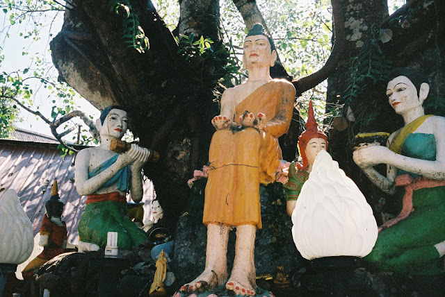Color film Photography Bangkok of effigies