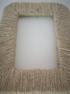 diy frame upcycle styrofoam