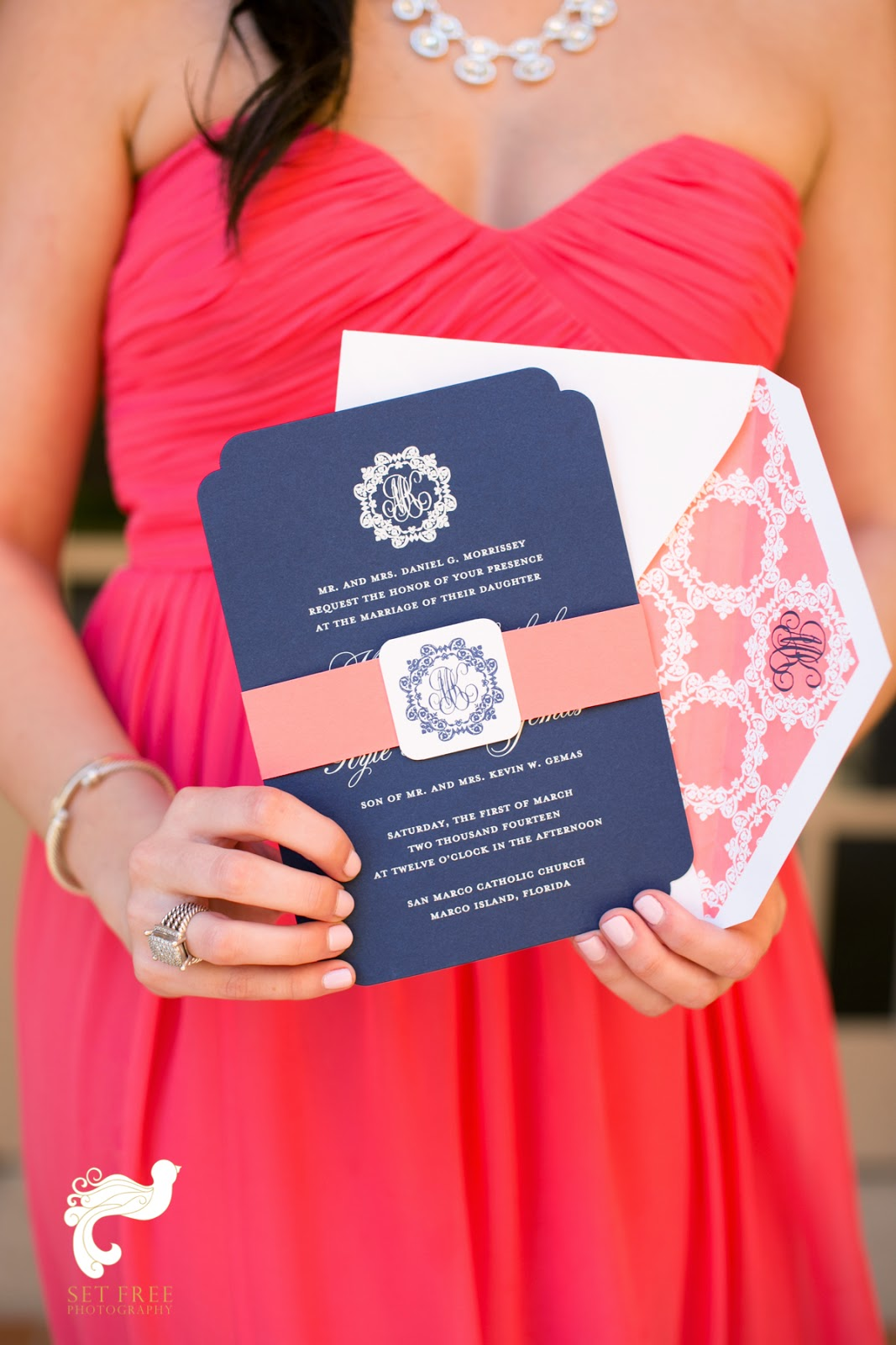 Nico and LaLa: Preppy Monogrammed Wedding at the Ritz-Carlton