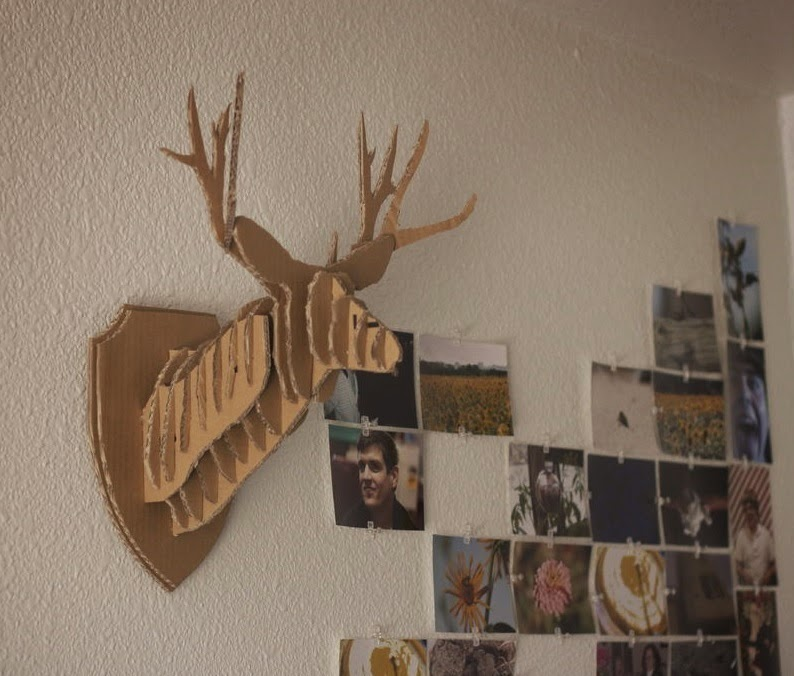 Hiasan dinding kepala rusa dari kardus bekas ide plus kepala rusa dari kardus thecheapjerseys Image collections