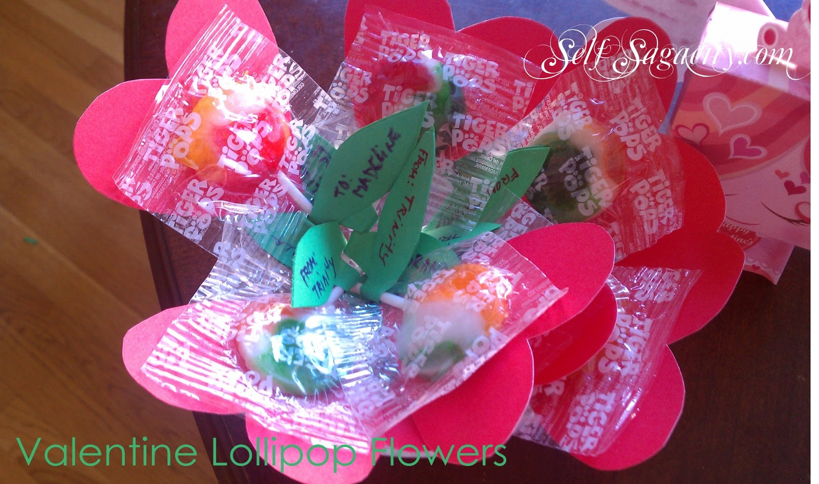 Valentine Lollipop Heart Flowers