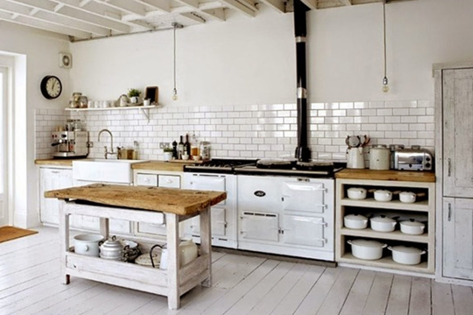 Makeyourhome stile e personalit in cucina - Mobili country bianchi ...