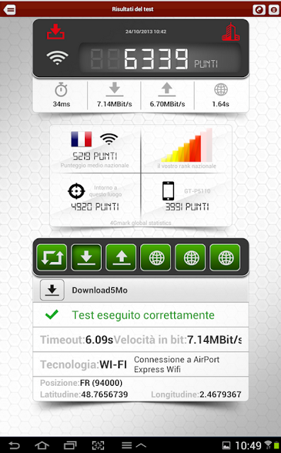 test connessione android