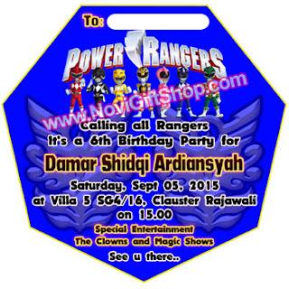 Invitation Power Rangers Da Kartu Undangan Ulang Tahun Anak (Invitation Card)