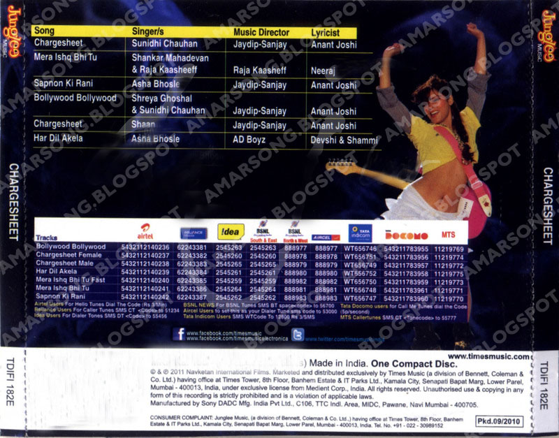 Chargesheet (2011) Hindi Movie Mp3 Download