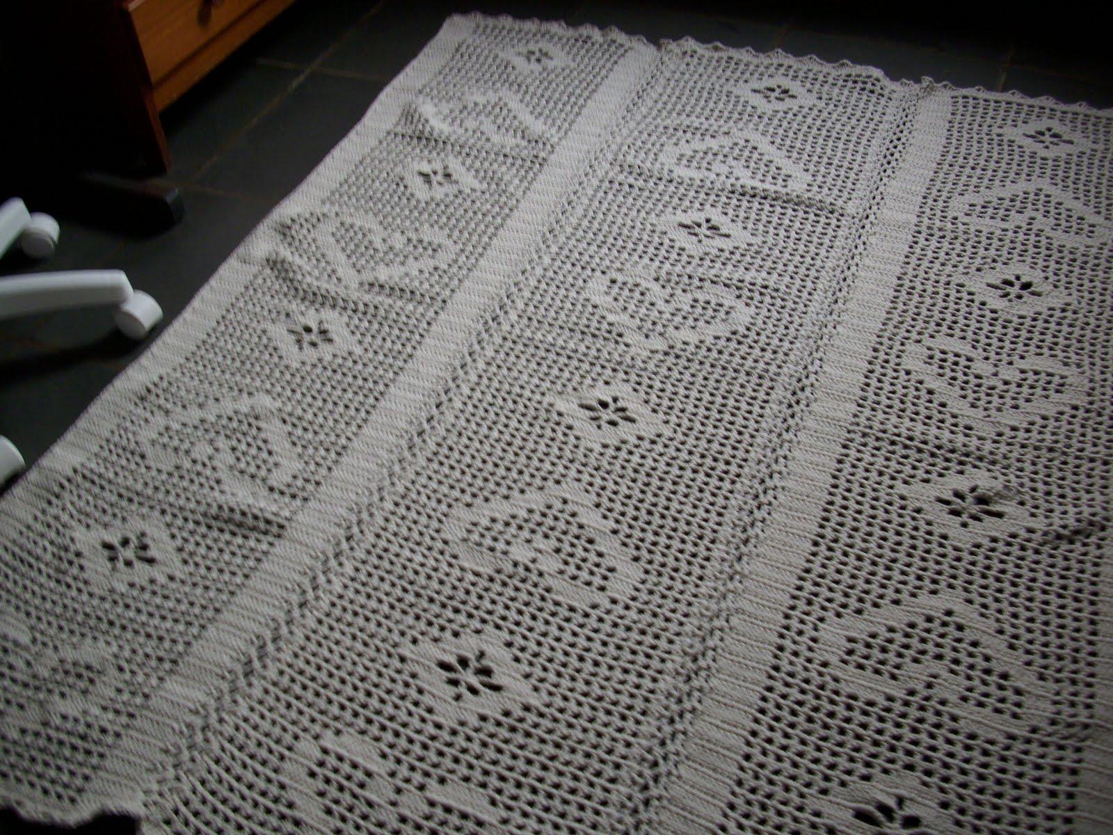 Rose enxovais tapetes de croche e caminhos de mesa e cortinas for Tapete mesa